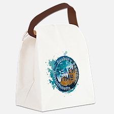 Massachusetts - Duxbury Beach Canvas Lunch Bag