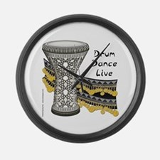 Drum Dance Live Large Wall Clock