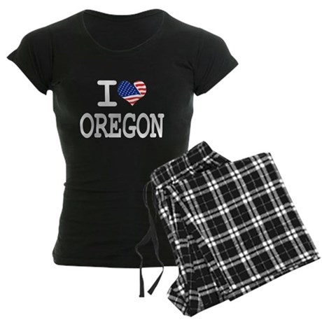 I LOVE OREGON Women's Dark Pajamas