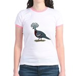 Victoria Crowned Pigeon Jr. Ringer T-Shirt