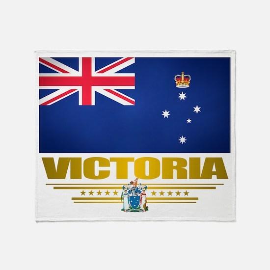 """Victoria Flag"" Throw Blanket"