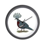 Victoria Crowned Pigeon Wall Clock
