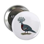 """Victoria Crowned Pigeon 2.25"""" Button (10 pack"""