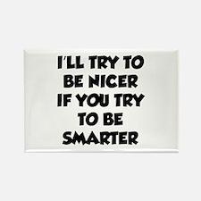 Be Smarter Rectangle Magnet (10 pack)