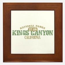 Kings Canyon National Park CA Framed Tile