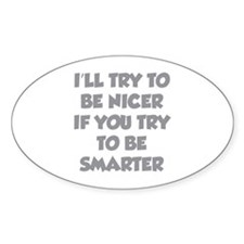 Be Smarter Decal