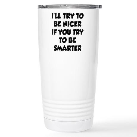 Be Smarter Stainless Steel Travel Mug