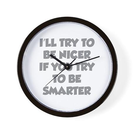 Be Smarter Wall Clock