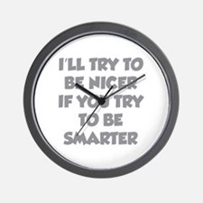 Be Smarter Wall Clock