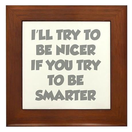 Be Smarter Framed Tile