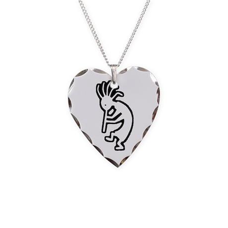Kokopelli - Necklace Heart Charm