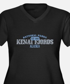 Kenai Fjords National Park AK Women's Plus Size V-