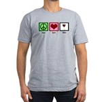 Peace Love Wine Men's Fitted T-Shirt (dark)