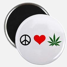 Peace Love Marijuana Magnet