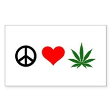 Peace Love Marijuana Decal