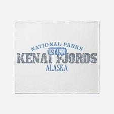 Kenai Fjords National Park AK Throw Blanket