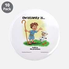 """Faith in His Promises 3.5"""" Button (10 pack)"""