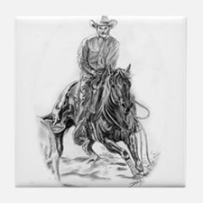 Cutting Horse Drawing Tile Coaster