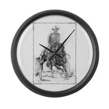 Cutting Horse Drawing Large Wall Clock