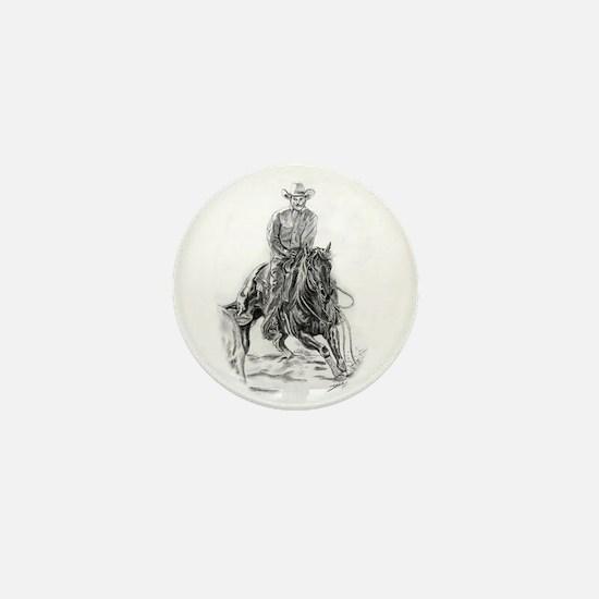 Cutting Horse Drawing Mini Button