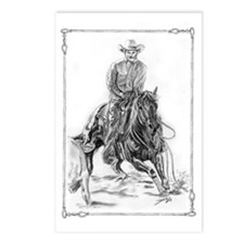 Cutting Horse Drawing Postcards (Package of 8)