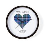 Heart - Couper of Gogar Wall Clock