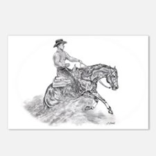 Reining Horse drawing Postcards (Package of 8)
