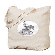 Reining Horse drawing Tote Bag