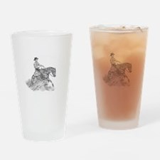 Reining Horse drawing Drinking Glass