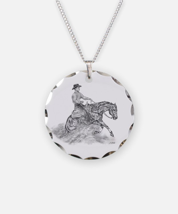 Reining Horse drawing Necklace