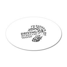 Driving My Race Car 22x14 Oval Wall Peel