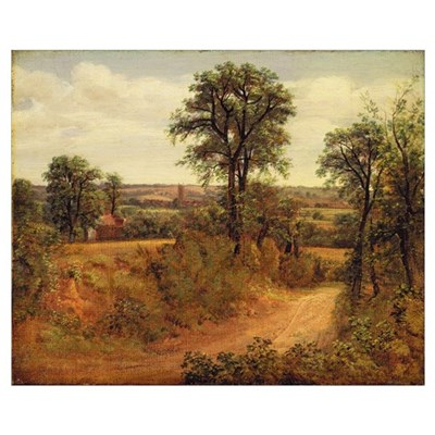 A Lane near Dedham, c.1802 (oil on canvas) Poster