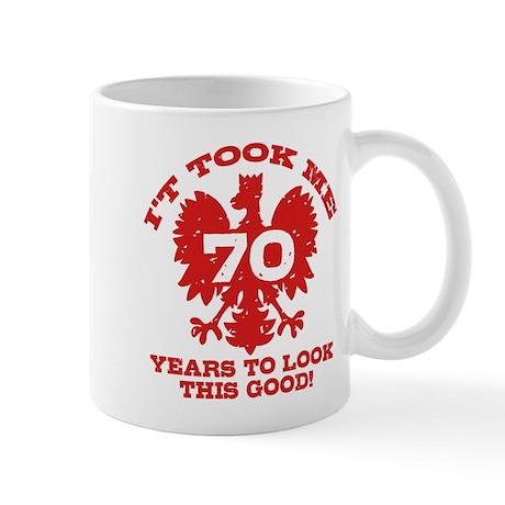 70th Birthday Polish Mug