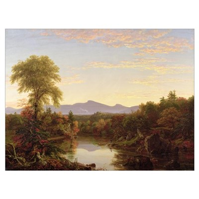 Catskill Creek, New York, 1845 (oil on canvas) Poster