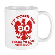 80th Birthday Polish Mug