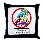 The Urban Sprawl Throw Pillow
