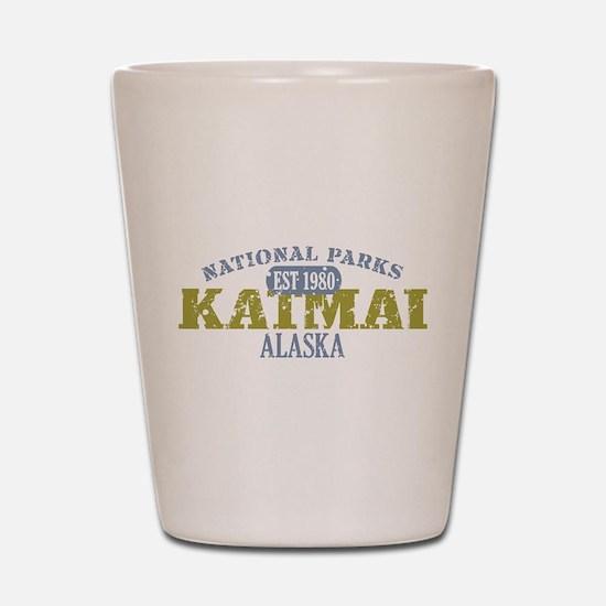 Katmai National Park Alaska Shot Glass