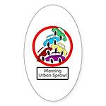 The Urban Sprawl Oval Sticker
