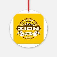 Zion Goldenrod Ornament (Round)