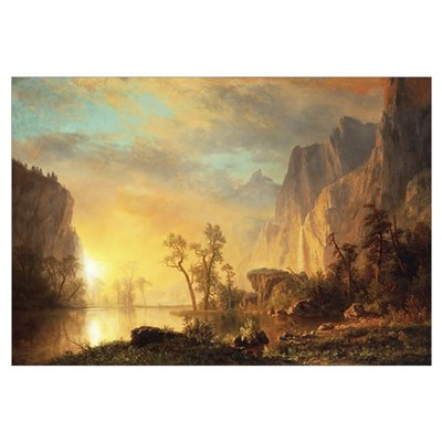Sunset in the Rockies (oil on canvas) Framed Print