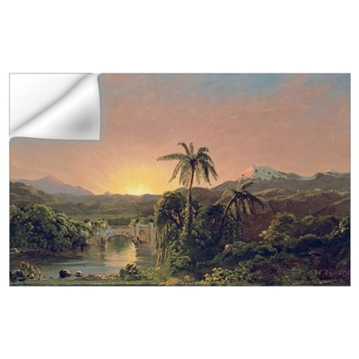 Sunset in Equador (oil on canvas) Wall Decal
