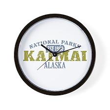Katmai National Park Alaska Wall Clock