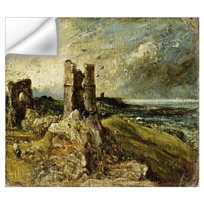Sketch of Hadleigh Castle (recto) (oil on millboar Wall Decal