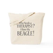 THERAPIST Beagle Tote Bag