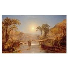 Indian Summer on the Delaware River, 1882 (oil on Poster