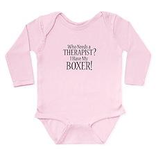 THERAPIST Boxer Long Sleeve Infant Bodysuit