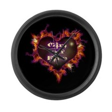 Girl on Fire Large Wall Clock