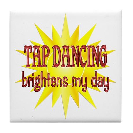Tap Dancing Brightens Tile Coaster