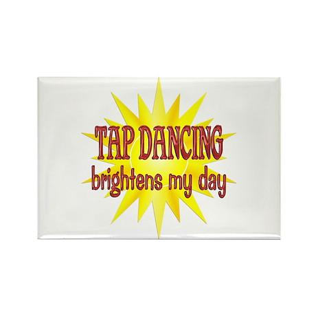 Tap Dancing Brightens Rectangle Magnet (10 pack)