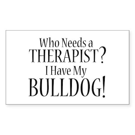 THERAPIST Bulldog Sticker (Rectangle)